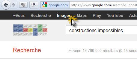Recherche Google constructions impossibles