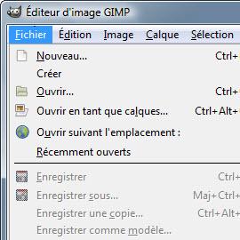 CAP-menus gimpen français