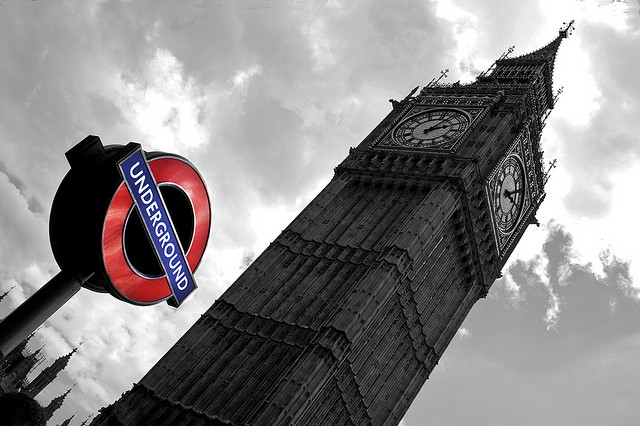 Big ben-Traitée en photo noir-et-blanc par Guillaume Richer