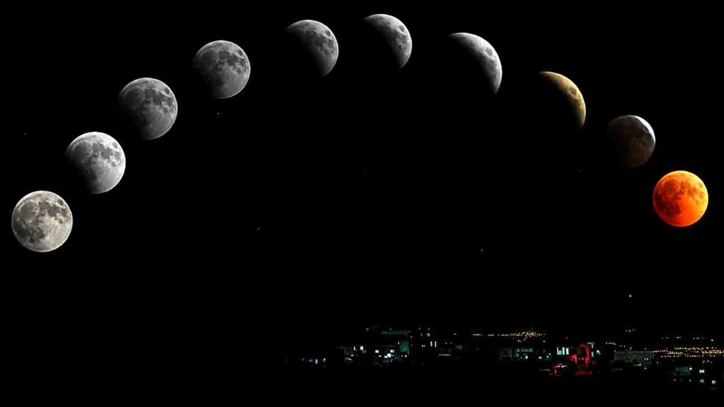 Lune plus grosse à l'horizon