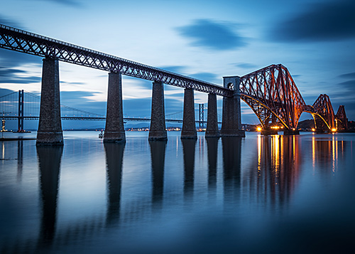 Blue Hours : Pont à South Queensferry