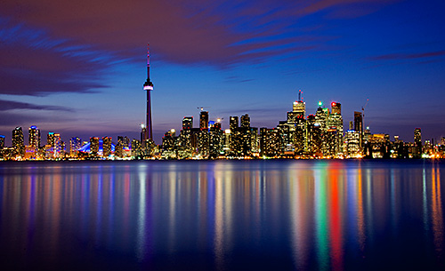 Toronto in the blue hours